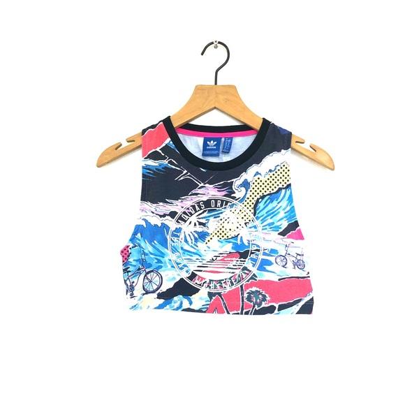 f33a7105037 adidas Tops | Colorful Crop Top | Poshmark
